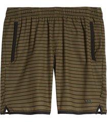 men's rvca men's yogger stretch performance shorts, size large - green