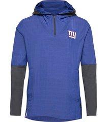new york giants nike team logo pregame lightweight tunn jacka blå nike fan gear