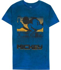 men's glitch mickey tie dye short sleeve t-shirt