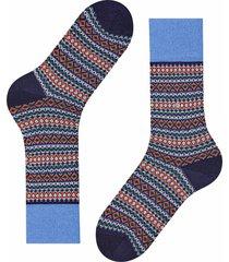 burlington socks country fair isle   blue multi   21922-6120