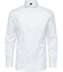 selected homme heren overhemd twill weving strak slim fit