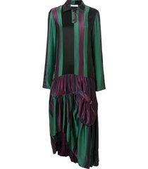 jw anderson drop-waist hoop skirt panelled dress - multicolour