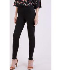calça legging feminina cintura média cós com elástico preto