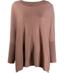 n.peal lightweight cashmere poncho - brown
