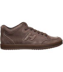 scarpe sneakers uomo in pelle h168 mid cut