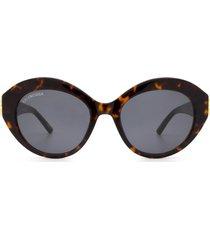 balenciaga balenciaga bb0133s havana sunglasses