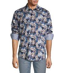 classic-fit floral-print shirt