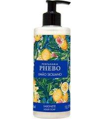 sabonete líquido phebo mediterrâneo limão 360ml