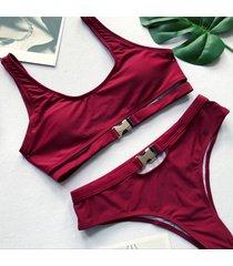 señora dos piezas de verano casual bañador halter bikini traje