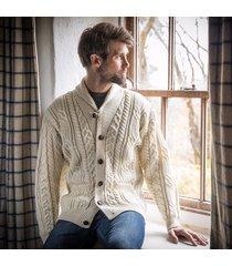 the slaney shawl cardigan cream xxl