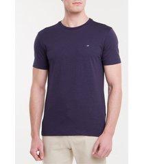 camiseta slim flamê calvin klein - marinho - m