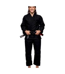 kimono jiu jitsu atama trançado infinity collab feminino - preto