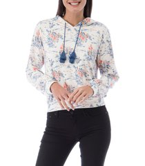 women's bobeau brandy floral hoodie