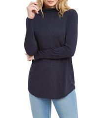 women's nic+zoe it item turtleneck sweater, size medium - blue