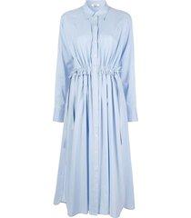 jason wu tie-waist shirt dress - blue