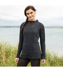 the lismore charcoal aran tunic medium