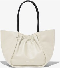 proenza schouler large ruched tote clay/neutrals one size