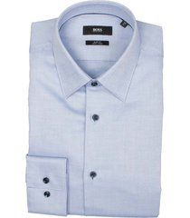 hugo boss overhemd jano blauw slim fit 50450883/454