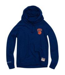 mitchell & ness women's new york knicks funnel neck fleece hoodie
