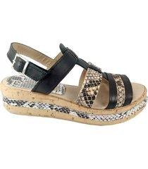 sandalia  negra mdl calzados