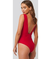 na-kd swimwear baddräkt - red