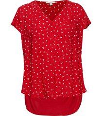blouses woven t-shirts & tops short-sleeved röd esprit casual