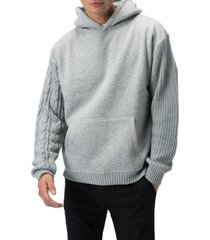 men's zanerobe cable mix media hoodie