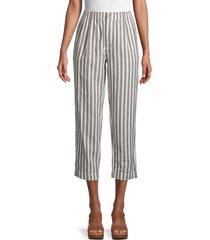 madewell women's sunfade striped linen-blend pants - sunfade stripe - size xxs