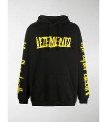 vetements world tour graphic-print hoodie