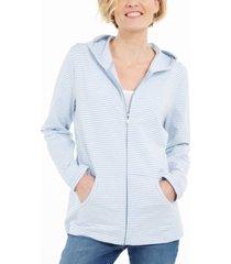 karen scott striped hoodie, created for macy's