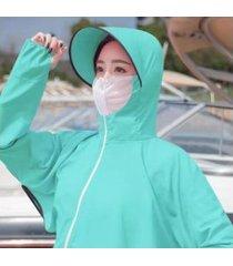 sombrero de verano anti-ultravioleta para mujer verde