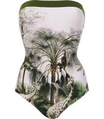 adriana degreas bandeau swimsuit - white