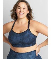 lane bryant women's livi soft low-impact no-wire sport bra 10/12 active texture