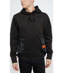 sixth june metallic hoodie tröjor black