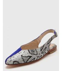 zapato azul vauthier elin