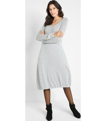 gebreide jurk in o-lijn