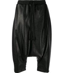 alchemy drawstring drop-crotch shorts - black
