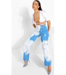 gebleekte boyfriend jeans met hoge taille, blue