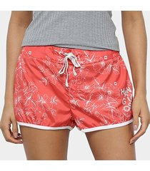 shorts hang loose short board hang hibiscus feminino