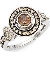 chocolatier® chocolate diamonds® and vanilla diamonds® 14k vanilla gold® ring
