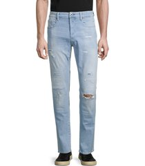 g-star raw men's 3301 ripped slim straight jeans - sun faded wash - size 31 32