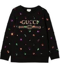 gucci black cotton sweatshirt