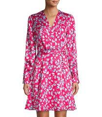 collie floral silk dress