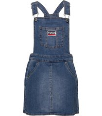 woven jumper dress jurk blauw levi's