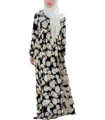 urban modesty women's sunflower criss cross maxi dress