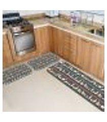 kit tapete de cozinha alpacas único 40x120
