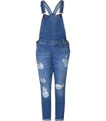 macacáo jeans feminino destroyed - kanui