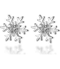 orecchini pendenti con fiocco di neve dolce orecchini pendenti in lega di zirconi per le donne