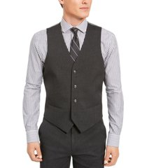 alfani men's classic-fit stretch solid suit vest, created for macy's