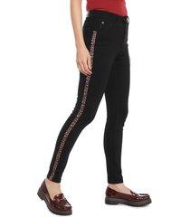 jeans ellus leggings cropped negro - calce ajustado